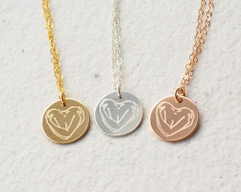 SELF LOVE Necklace in Sterling Silver, Gold Filled, Rose Gold Filled • Layering Necklace • Love Yourself Necklace • I Am Enough Necklace