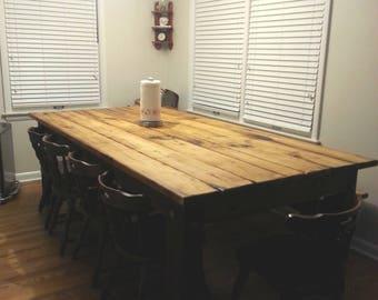 Foot Farm Table Etsy - 8 foot dining room table