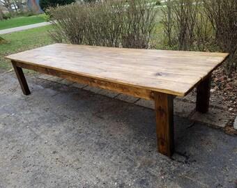 Rustic FARM TABLE 12-Foot Reclaimed Wood Farm House ...