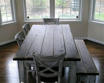 Farm Table And Bench Etsy