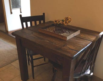 Elegant Rustic Farmhouse Kitchen Tiny House Home Living Table Small Dining  Reclaimed Salvaged Wood By Unique Primtiques Custom Sizes Colors Cabin RV