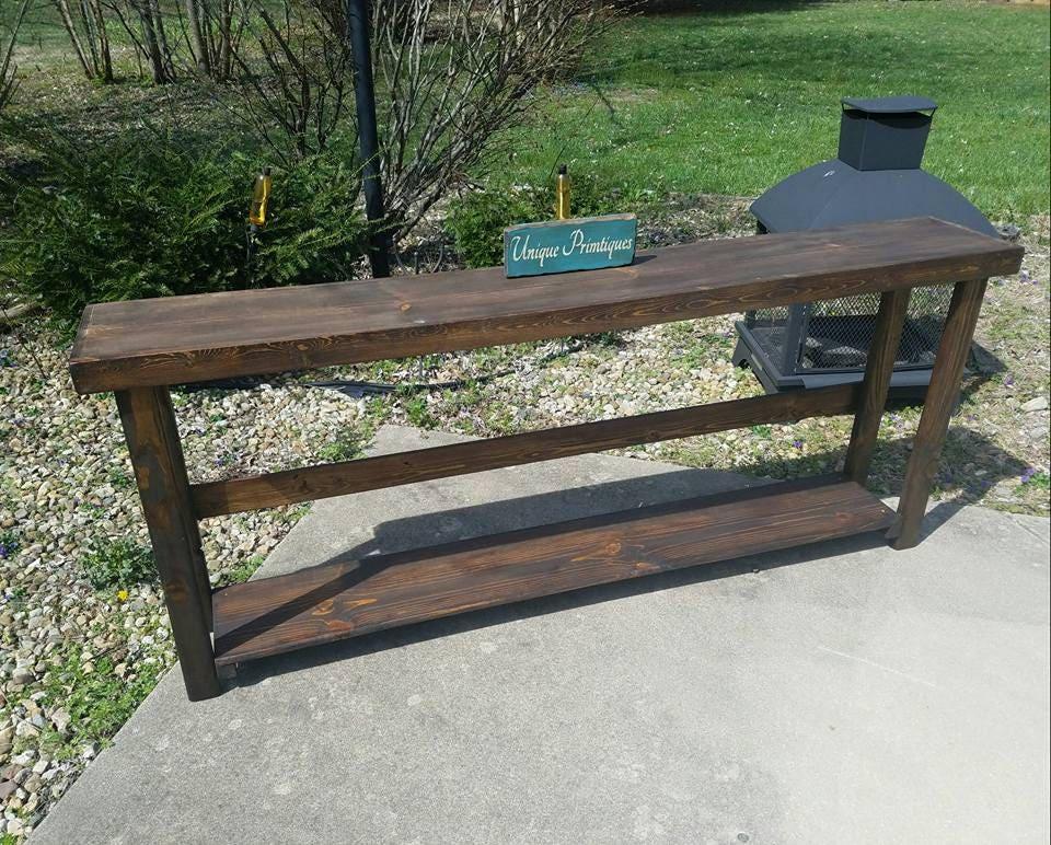 Rustic Sofa Table Narrow Long Console Entryway Entry