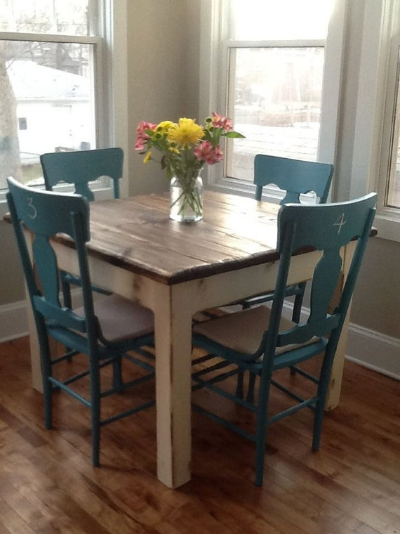 Rustic Farmhouse Table Small Kitchen Dining Farm House Etsy