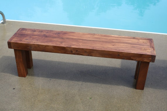 Brilliant Rustic Wood Bench Indoor Outdoor Benches X2 American Walnut Solid Wood Custom Sizes Colors Cabin Home Porch Farmhouse Farm House Decor Evergreenethics Interior Chair Design Evergreenethicsorg