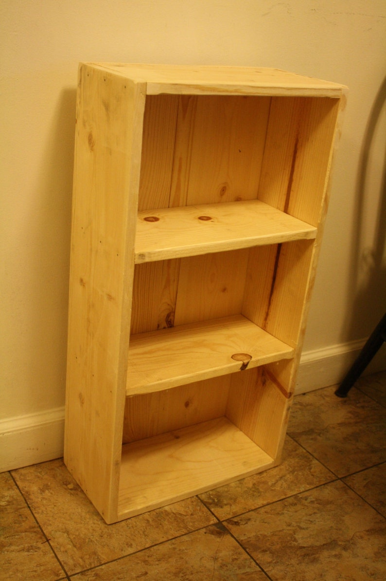 Natural Rustic Wood Book Shelf Bookcase Bathroom Storage Hall Entry Kitchen Crafts Display 8wx16 25lx30 5h Custom Sizes Colors Unique