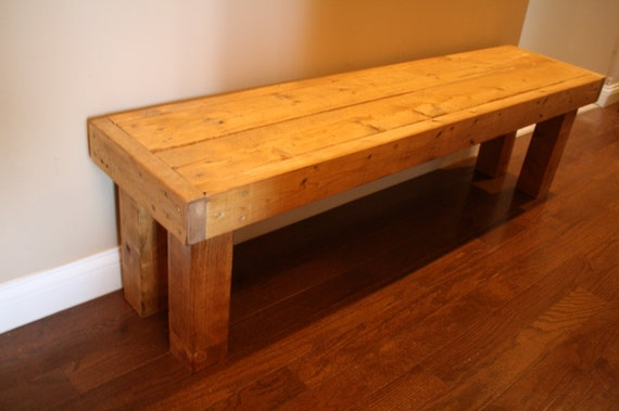 Beautiful Primitive Light Weight Golden Oak Framed Bench 12x54x18h Custom Sizes /& Colors Available Home Decor Garden Outdoor Patio