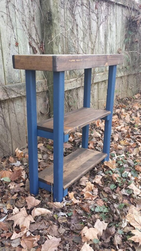 sofa hall console table book shelf bookshelf indigo navy blue. Black Bedroom Furniture Sets. Home Design Ideas