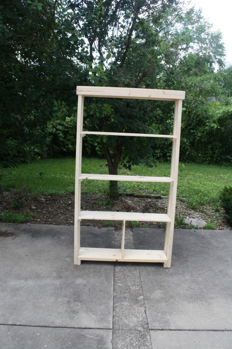 Beautiful TALL Natural Wood Bookshelf Bookcase Book Shelf 11x46x80 Custom Sizes Colors Available