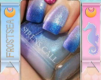 Frostsea - Thermal Blue and Pearl polish