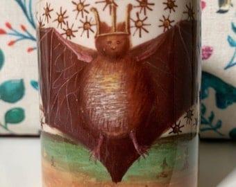 Medieval Crowned Bat Mug