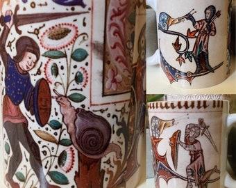 Medieval Knights vs Snails Mug