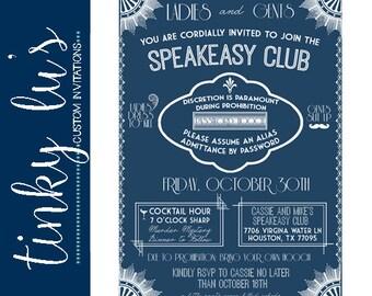 Speakeasy Invitation Etsy