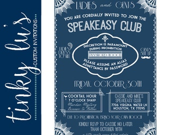 Speakeasy invitation Etsy