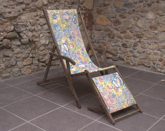 Vintage French Deck Chair- Item discounted -25% Use Coupon  Brexitsmexit