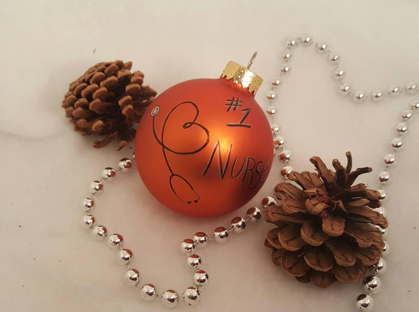 Number 1 Nurse Personalized Ornament SET Nurse Gifts Nurse | Etsy