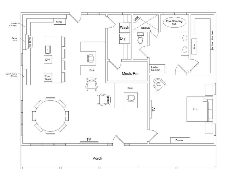 The Working Ranch Printable House Plan Digital Download