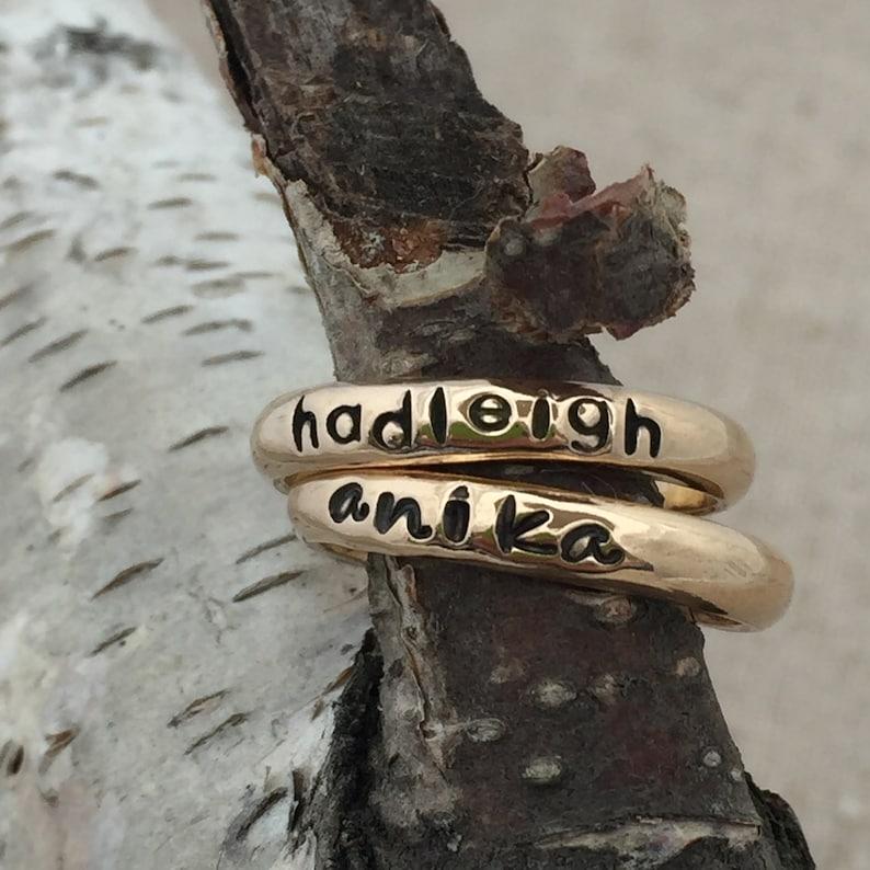 Gold Name Ring image 0