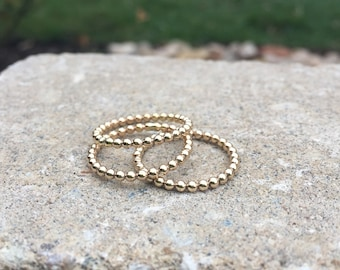 Gold Bead Ring *One Gold Fill Ring