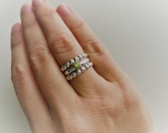 Peridot Cabochon Ring
