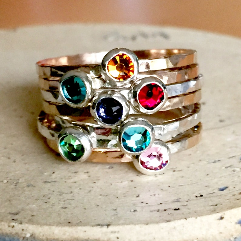 Delicate Birthstone Ring image 0