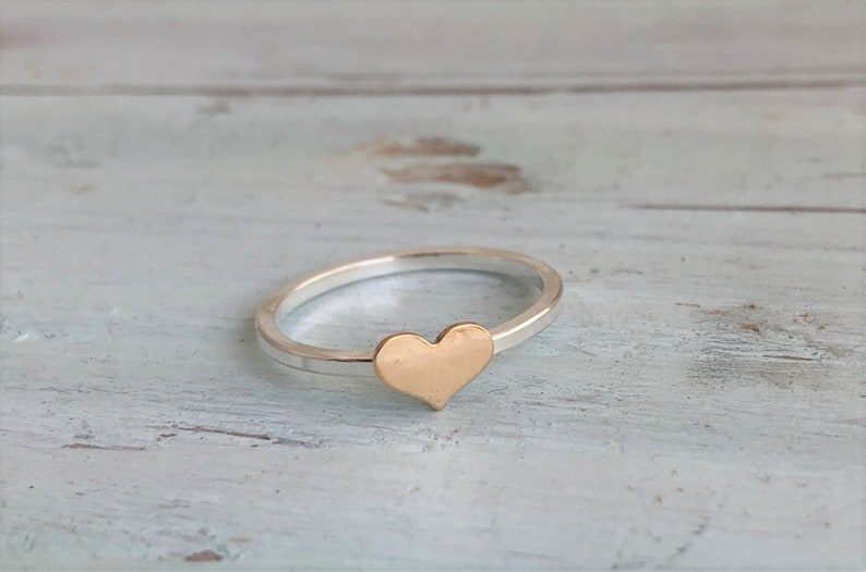 Gold Heart Ring image 0