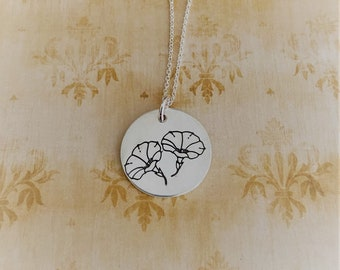 Morning Glories Sterling Silver Necklace/Charm
