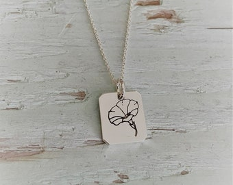 Morning Glory Charm Necklace