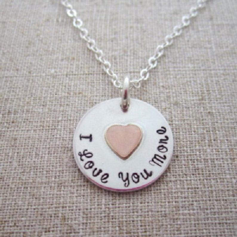I Love You More Charm Necklace image 0