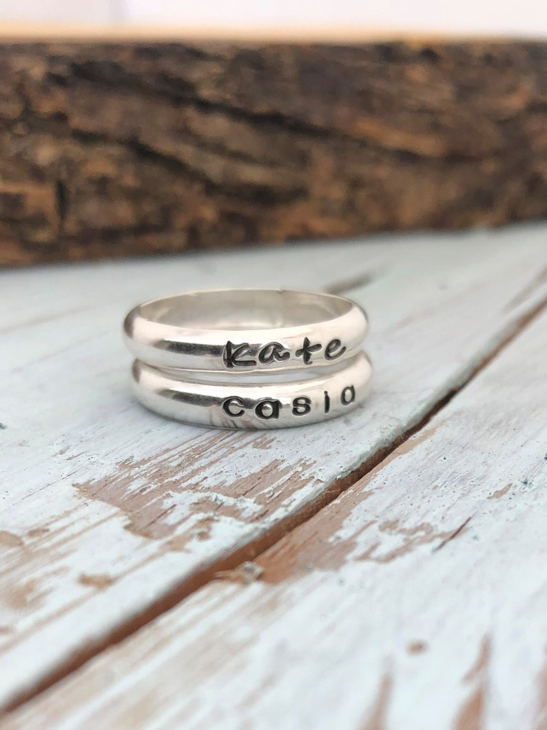 Classic Silver Name Ring image 0