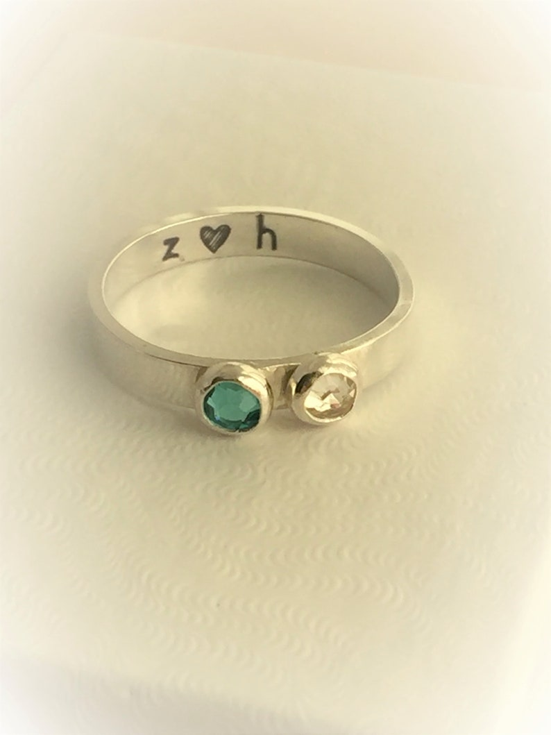 Double Birthstone Ring image 0