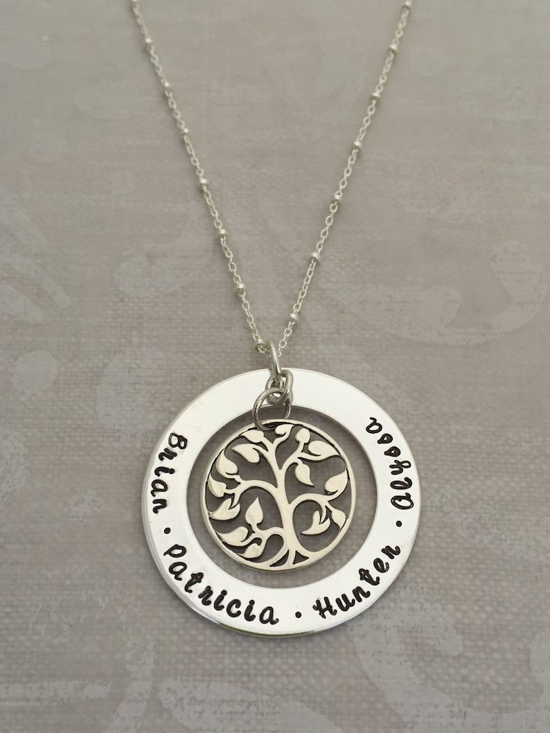 Tree of Life Infinity Circle Necklace image 0