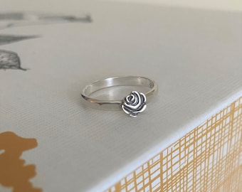 Coming Up Roses Ring *Sterling Silver, Rose Gold or Gold Rose accent