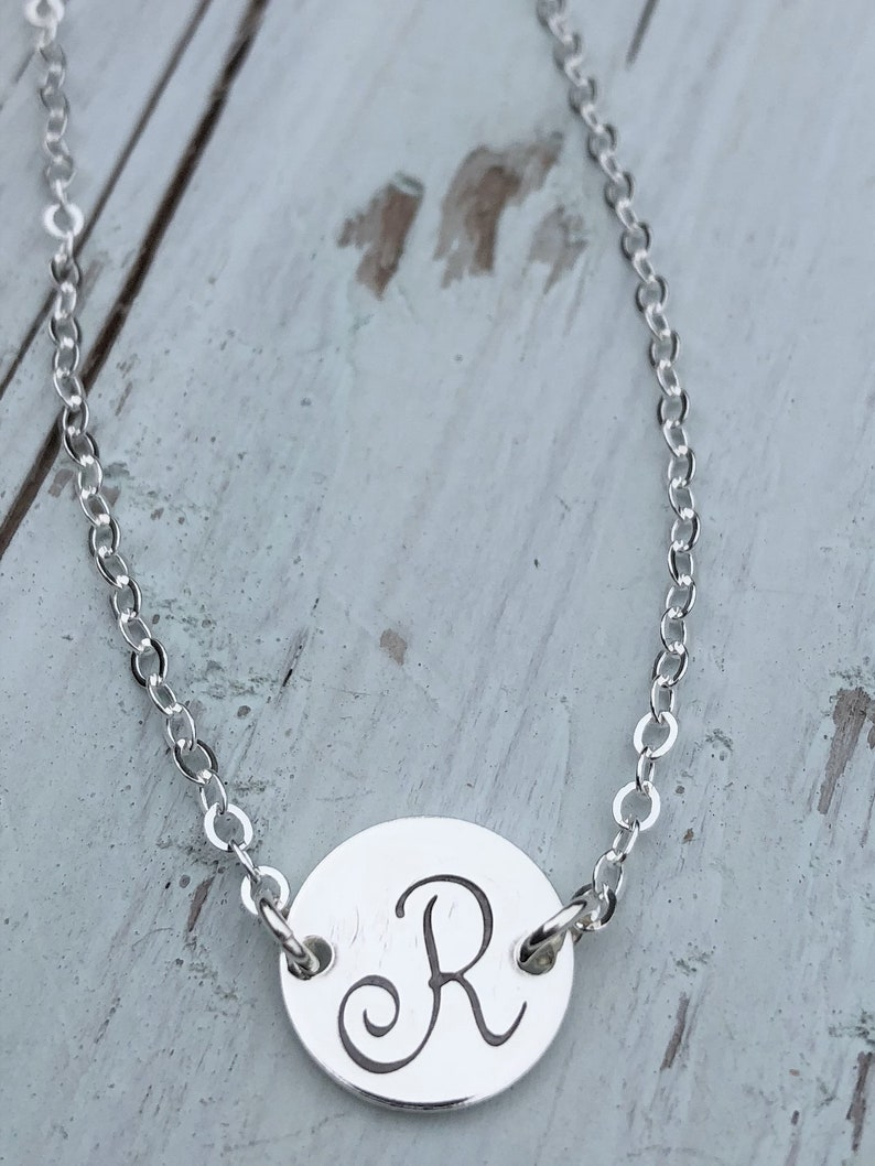 Choker Style Initial Necklace image 0