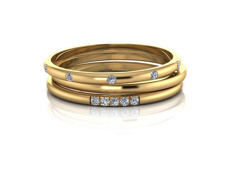 Diamond Wedding Band Pave Set Diamond Tiny Wedding Ring Half Eternity Diamond Wedding Band Simple Wedding Thin Band