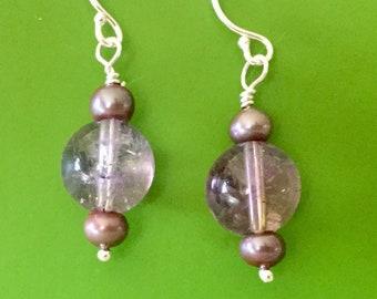 Ametrine Pearl Earrings
