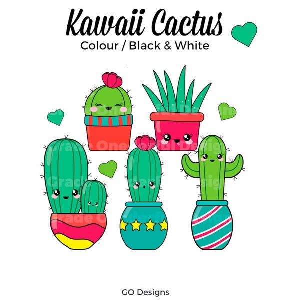 Kawaii Cactus Clipart Cute Cactus Graphics Cacti Clip Art ...