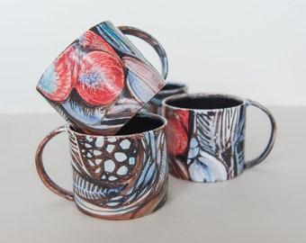 Hand-painted Mug   Handmade Pottery Coffee Mug   Pottery Coffee Mug   Stoneware Coffee Mug   Pottery Tea Cup   Black Coffee Mug  