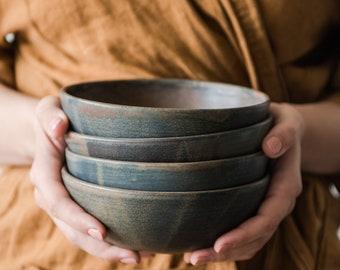 Rust Stoneware Everyday Bowl Handmade Ceramics Handmade Stoneware Soup Bowl Pottery Salad Bowl Fruit Bowl Handmade