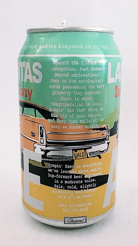 Beer CANdles: Lagunitas Brewing Company, Sumpin' Easy Ale (12 oz can)