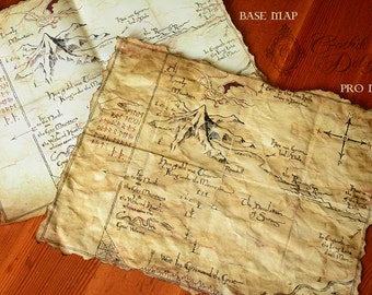 """Map replica  from """"The Hobbit"""" with UV Lunar lunes. Different versions available."""