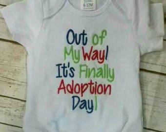 Onesie, baby, adoption, adoption day