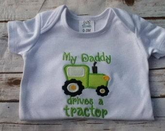 Shirt, Tractor, Tractor Shirt, My Daddy, Daddy, Farm, Green Tractor