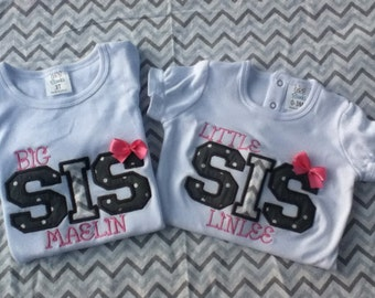 Shirt, Shirt Set, Big Sister, Little Sister, Big Sis, Little Sis