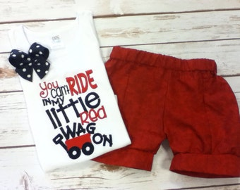 Shirt, Outfit, You Can't Ride in My Little Red Wagon