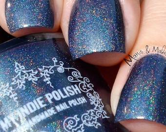 Teal holographic nail polish - vegan - the anniversary  15ml