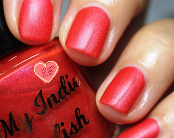 Featured listing image: Fall Glow - matte coral with pink shimmer 15 ml  limited edition