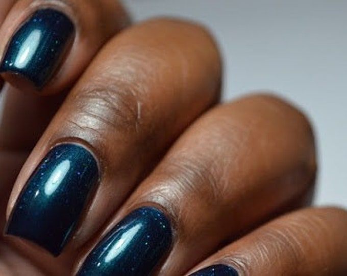 Featured listing image: Teal nail polish - vegan cosmetics - cruelty free - skinny dipping - 15 ml
