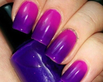 Thermal nail polish - Glamping - 15 ml vegan - pink to purple -cosmetics - vernis