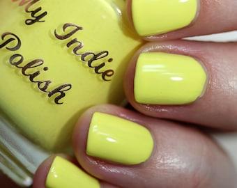Lemon yellow nails - vegan - cruelty free  - 15ml -  Spring 2019 - stamping polish