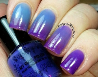 Thermal nail polish - Lavender rain -  Large bottle  -  Handmade - polish  - Vegan